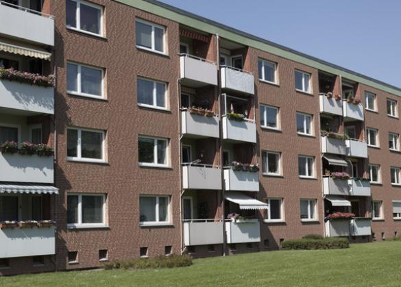 Lübeck, private apartment block in an area with drilling depth restrictions (112 kW / 31.8 RT)
